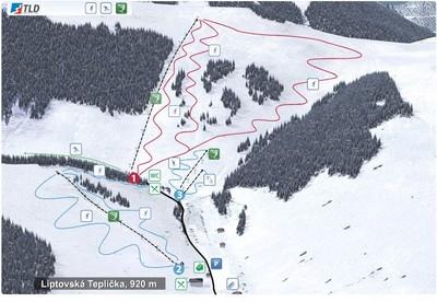Liptovská Teplička - mapa