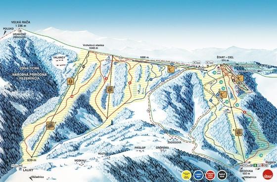 Snowparadise Veľká Rača Oščadnica - mapa