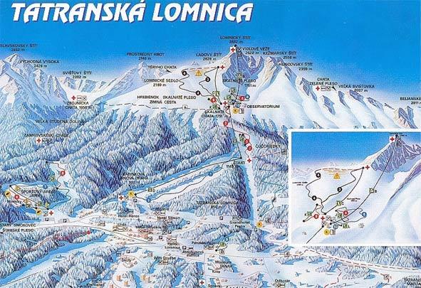 Tatranská Lomnica - mapa