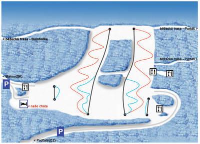 Zóna Snow Makov-Kasárne - mapa