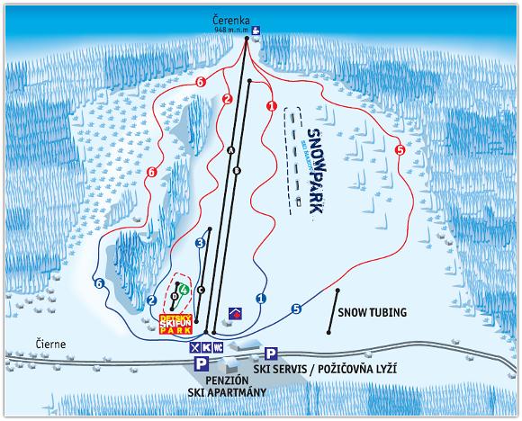 Ski Makov - mapa
