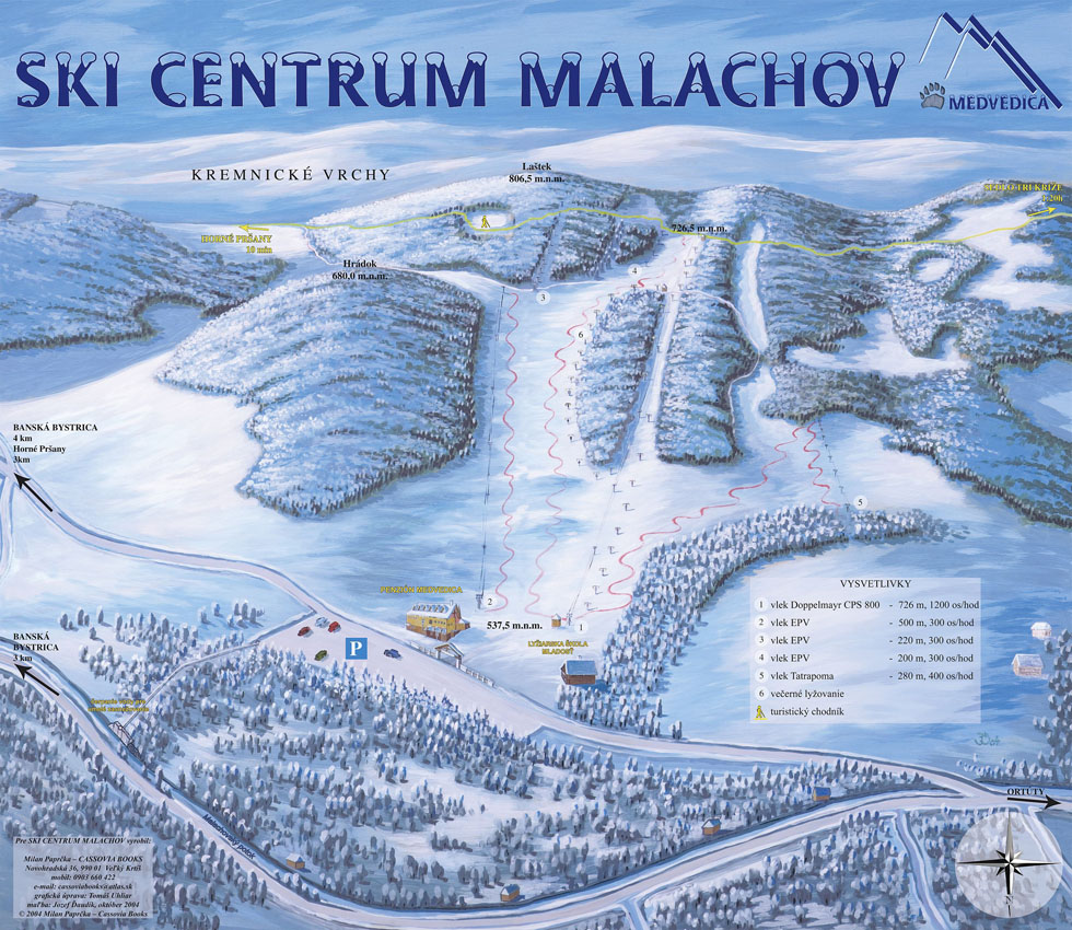 Ski Malachov - mapa